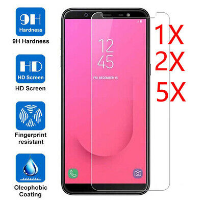 5X Tempered Glass Screen Protective For Samsung Galaxy J4 J6 J8 A6 A7 A8 A9 2018