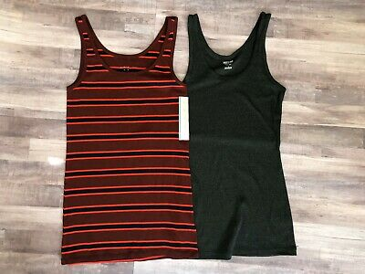 ba8e784d31 TARGET BRAND WOMENS Lot of 2 Tank Tops Mossimo A New Day Size L