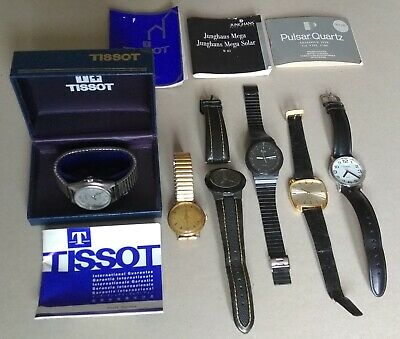Vintage collection of mens watches – Tissot, Junghans, Smiths...