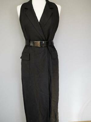 EXC! 90s Vtg Laundry by Shelli Segal Linen Wrap Shirt Dress 4