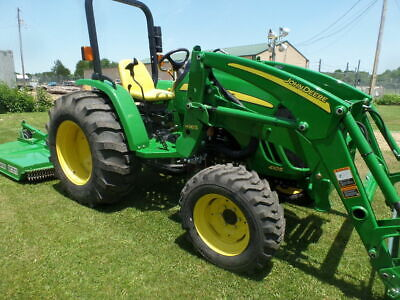 John Deere 4105 4Wd Ldr And Frontier Rc2072 Brushog W/ 41 Hrs