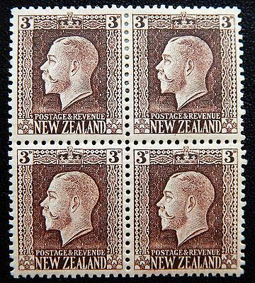 New Zealand Kat. 140 Ic MNH/MH **/* Block of Four KGV 1915 Kat. 102 Euro