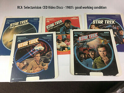 Star Trek collection SELECTAVISION CED PLAYER- Video Discs