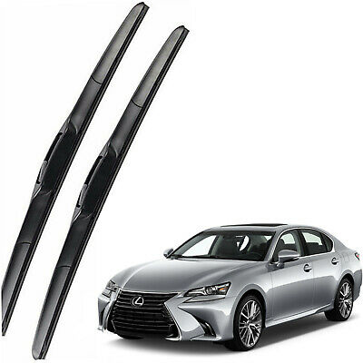 New Set OEM Front Windshield Wiper Blades For 2017-2019 Lexus GS300 GS350 GS450h