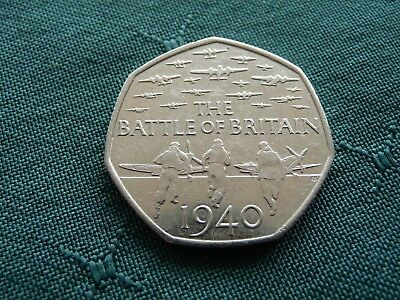 Battle Of Britain 50P Coin - Circulated 2015