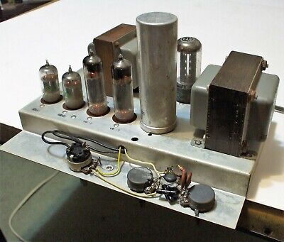 Vintage Chassis Tube Amp Amplifier EL84 12AX7 5Y3GT WORKING! CLEAR SOUND!