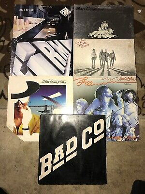 Bad Company Lp Lot Of 7 Records The Firm Free Classic Rock