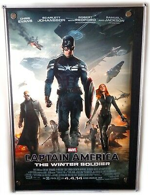 Captain America The Winter Soldier Double Sided Original 27x40 Movie Poster 2014