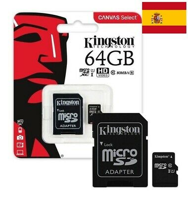 Tarjeta De Memoria Kingston Micro Sd 64Gb Clase 10