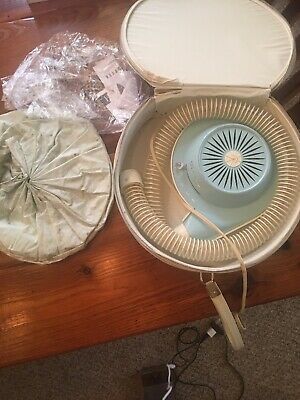 Vintage General Electric GE Deluxe Hair Dryer & Case. Works