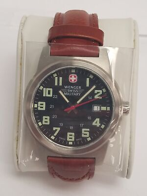 Wenger Classic Field Black Dial Leather Strap Men's Watch 72917