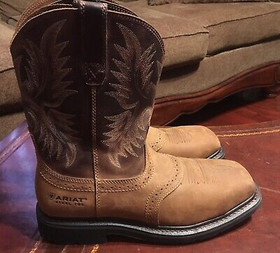 b1b83bc37c4 MEN'S ARIAT 10010134 Sierra Wide Aged Bark Leather Steel Toe Safety ...