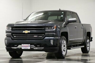 2017 Silverado 1500 LTZ 4X4 Crew Graphite 5.3L V8 Z71 One Owner Like New Sunroof Navigation Camera Heated Cooled Leather Z71 4WD Cab 16 2016 17