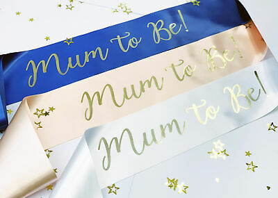 NEW Mum to Be Sash Baby Shower Gift Ideas Idea Decorations Games Gender Neutral