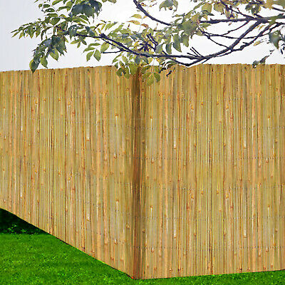 Garden Bamboo Fence Slat Screening Slatted Privacy Shield Wind/Sun Protraction