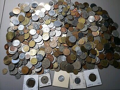 Large EIGHT 8 Full Pounds Lot of World Foreign Coins 8 LB
