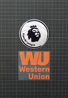Premier League Patches/Badges 2018-2019 & WESTERN UNION Liverpool Away Shirt