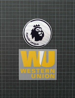 Premier League Patches/Badges 2017-2018 & WESTERN UNION Liverpool Home Shirt