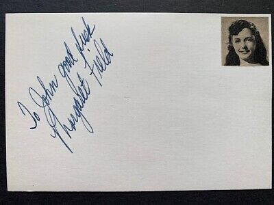 Margaret Field Signed - Man From Planet X - Captive Woman - Twilight Zone