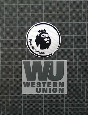 Premier League Patches/Badges 2017-2018 & WESTERN UNION Liverpool Away/3rd Shirt