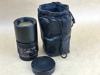 Leica 180mm F/4 Elmar-R 3-Cam Lens with Caps Made in Germany - Nice Glass