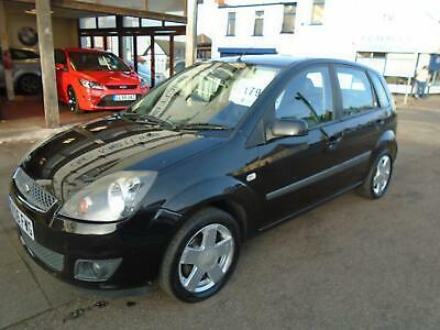 2006 06 Ford Fiesta 1.4 Ghia 5-Dr Black Black Leather Alloys PAS CD ABS