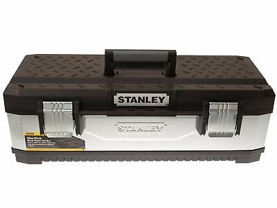 Metal Toolbox Construction Tool Storage Box Heavy Duty Grip 26-inch