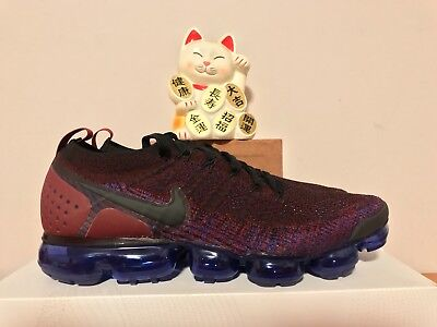 Nike Air Vapormax Flyknit 2 Black Team Red New Size 10.5 [942842-006]