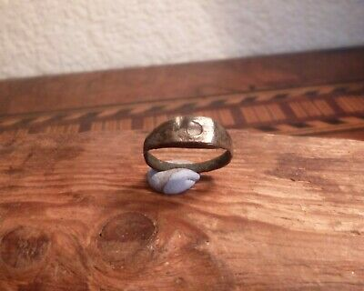 Small Roman Ring with White Stone-British Detecting Find