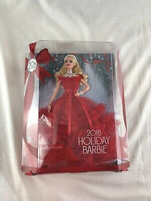 2018 Holiday Barbie 30th Anniversary Signature Edition Blonde New in Damaged Box