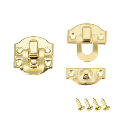 Box Latch, Small Size Golden Decorative Hasp Jewelry cases Catch 2 pcs