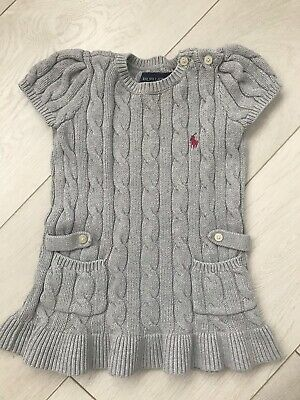 Baby Girls Ralph Lauren Cable Knit Dress Size 18M