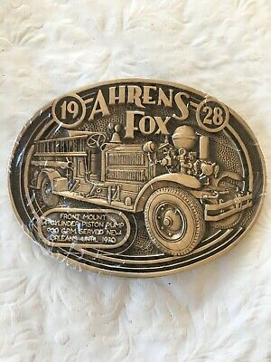 Ahrens Fox 1928 Belt Buckle Firefighter Historical 1982 NIP