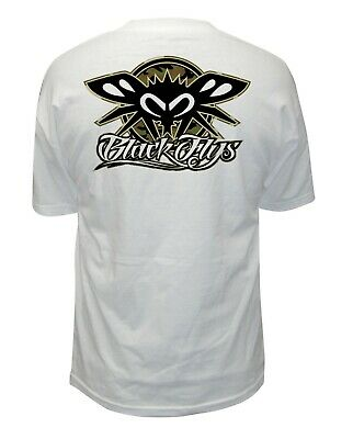 NEW Black Flys PHANTOM BLACKED OUT Tee Shirt GREY SMALL-3XLARGE LIMITED RELEASE