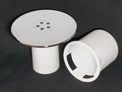 Replacement 115mm Chrome Shower drain-waste cover & optional white parts.