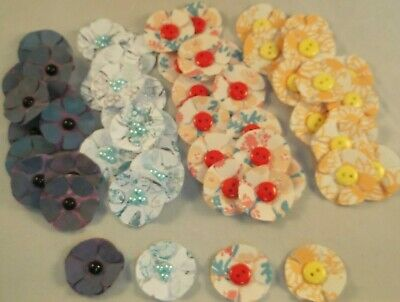 50+ 3D Handmade Layered Flower Embellishments Card Making Toppers Craft