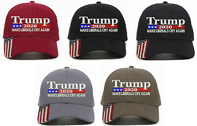 TRUMP 2020 MAKE LIBERALS CRY AGAIN Adjustable Baseball Cap Hat LOT Buy3get1free