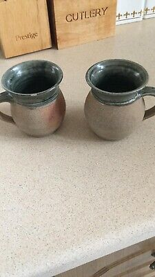 Pair Of Winchcombe Pottery Mugs