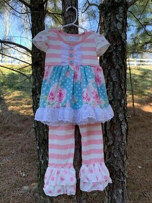 NEW Boutique Girls Clothing Sets Spring/Summer 2T,3T,4T,5/6,6/7,7/8