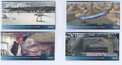 1997 Star Wars Widevision Trilogy (Hobby) Promo 4-Card Set H1 to H4 Kenner- Rare