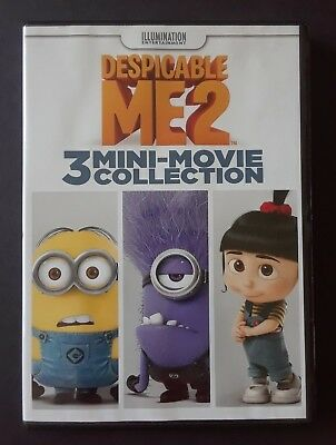 Despicable Me 2/3 Mini Movies (DVD 2015) OOP Puppy/Panic Mailroom/Training Wheel