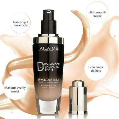 Waterproof Full Coverage Liquid Concealer Face Brightening Foundation Cream