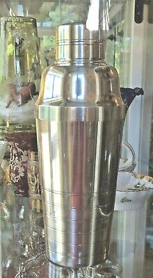 Vintage  Art Deco Silver Plated French Cocktail Shaker - Shaker francese