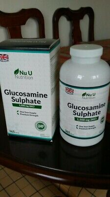 Glucosamine Sulphate 1500 mg 2KCl, 365 Tablets (1 Year Supply)