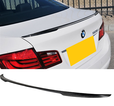 BMW F10 & M5 saloon 4dr performance real carbon fibre rear boot lip spoiler
