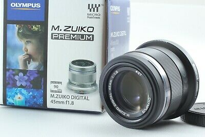 【TOP MINT IN BOX】 Olympus M.Zuiko Digital 45mm F1.8 Black Lens From Japan 145