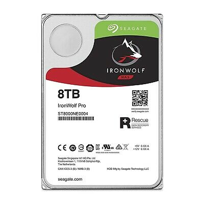 Seagate 8TB IronWolf Pro 3.5-Inch NAS HDD Hard Disk Drive ST8000NE0004