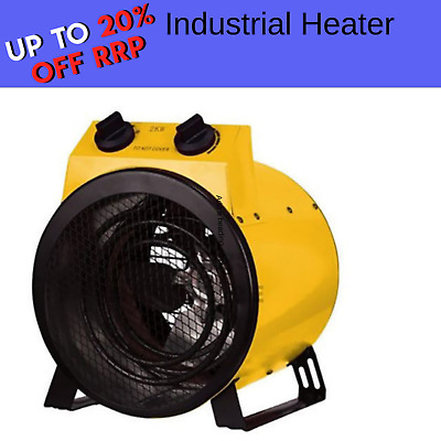 Electric Industrial Fan Heater Floor Carpet Dryer Blower Drum Workshop Garage