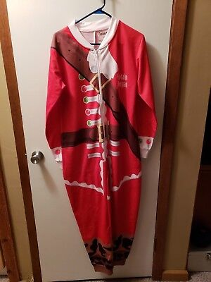 Captain Morgan Adult Christmas Onezie Zippered BRAND NEW