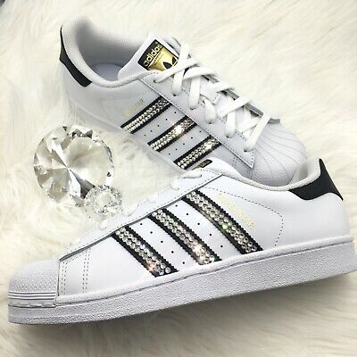 212761b4f Bling Women s Adidas Shoes w  Swarovski Crystals Originals Superstar Black  Clear